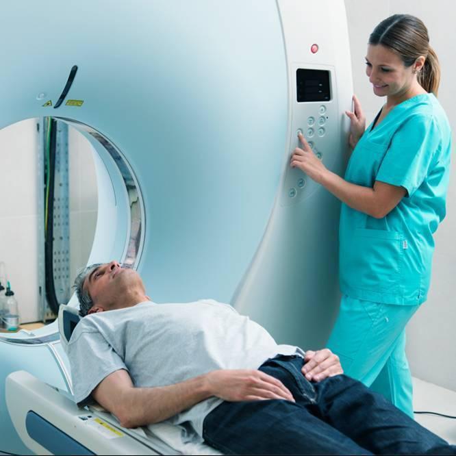 Imagen de resonancia magnética multiparamétrica abierta de la próstata caserta